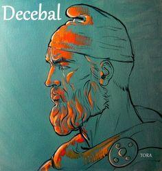 Decebal Regele Dacilor Dacian King pictura desen Gabriel Tora
