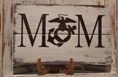 Mother Of Marine Rustic Pallet Wood Sign - Proud MoM Wood Sign - USMC Mother Sign - Marine Corps Mom Rustic Keepsake Gift - Hand Painted by Gratefulheartdesign on Etsy