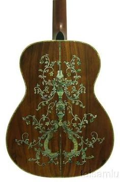 Solid Koa Om Guitar Classical Pattern Mop Inlay G1243