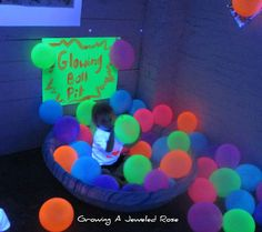 glow in the dark party ideas - Google Search