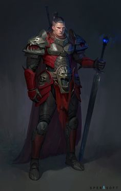 m Fighter Plate Armor Cloak Greatswords undercity urban City underdark d&d rpg male character lg Inspiration Drawing, Fantasy Inspiration, Character Inspiration, Fantasy Character Design, Character Concept, Character Art, Fantasy Armor, Medieval Fantasy, Dnd Characters