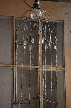 garden fencing metal wire crystals lighting
