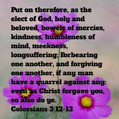 Colossians 3:12-13 (KJV)