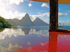 Jade Mountain, St. Lucia. Room with a view.