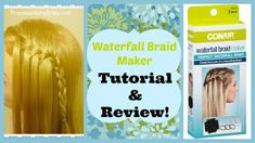 Waterfall braid maker tutorial and review.