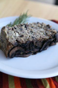 Lentil Portabella Mushroom Loaf