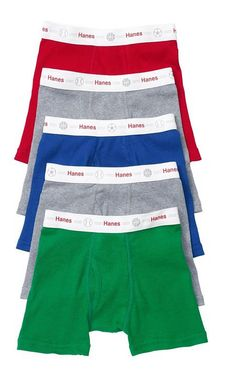 5 Pack Hanes Toddler Boys' Boxer Briefs Underwear Assorted Colors and Toddler Underwear, Boys Underwear, Briefs Underwear, Boxer Briefs, Hanes Hosiery, Wear You Out, Boys Boxers, Boys Accessories, Cool Sweaters