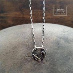 Raw necklace raw silver necklace garnet necklace raw