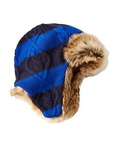 659478827fd89 Kids Fur Trim Trapper Hat by Hanna Andersson Boys Accessories