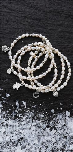 925 Sterling Silver and Freshwater Pearl bracelets