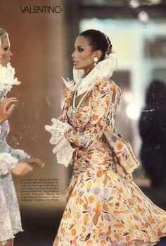 Beverly johnson by Mike Reinhardt, 1980 Very Valentino, Valentino Couture, Valentino Garavani, African American Models, Beverly Johnson, Haute Couture Looks, Vogue Covers, Confident Woman, Hollywood Celebrities