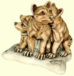 Harmony Kingdom Father Knows Best Box Figurine TJTT Tasmanian Tiger