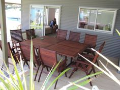 Kwila Outdoor setting, perfect for the Kiwi bach! Durable to stand the test of time.