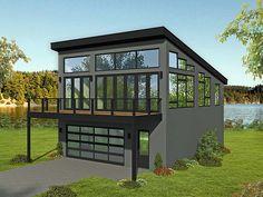 Modern Style 2 Car Garage Apartment Plan Number 51698 with 1 Bed, 2 Bath - - Garage Plan 51698 - Contemporary, Modern Style 2 Car Garage ApartmentPlan with 1309 Sq Ft, 1 Bed, 2 Bath.