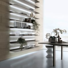 #rimadesio EOS shelves with LED