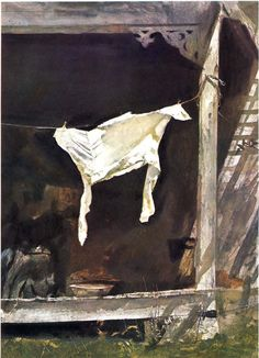 Andrew Wyeth - The Bachelor (1964)   Washer Odor?   Sour Smelling Towels?   Stinky Clean Laundry?   http://WasherFan.com   Permanently Eliminate or Prevent Washer & Laundry Odor with Washer Fan™ Breeze™  #Laundry #WasherOdor