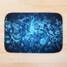 Blue Bath Mat, Music Notes, Soap Dispenser, Colorful Backgrounds, Duvet Covers, Glow, My Arts, Art Prints, Printed