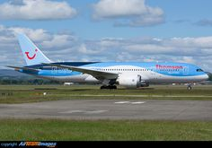 Thomson Airways Boeing (registered G-TUIE) taxies for departure to Cancun Boeing 787 8, Boeing Aircraft, Aviation Image, Civil Aviation, Thomson Airways, Cargo Airlines, World Pictures, Aircraft Pictures, Cancun