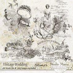 Vintage Wedding - Stamps by Manuela