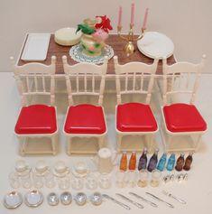 リカちゃん 白い白い家具セット ダイニングテーブル