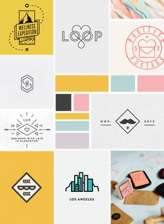 betty red design, betty red, moodboard, web design, graphic design, blog design, colourful, colorful, hipster,
