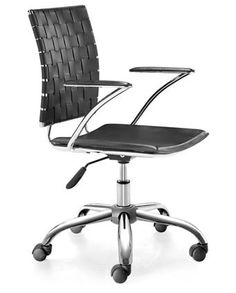 ZUO Modern Criss Cross Office Chair $197.99 Black Or White Color Options.  Www.modernchairsdirect