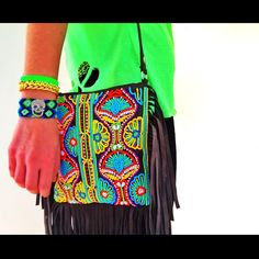 Tshirt, Indian bag and Bracelets. Everithing by Toscana Pulseras (Spring Collection). #Padgram