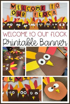 Thanksgiving Turkey Bulletin Board Banner Enjoy this free printable banner to use when creating your own Shapely Turkey Bulletin Board. It's super simple and so cute. Thanksgiving Classroom Door, Thanksgiving Bulletin Boards, Thanksgiving Preschool, Fall Preschool, Preschool Crafts, Thanksgiving Turkey, Preschool Door, Thanksgiving Decorations, November Bulletin Boards