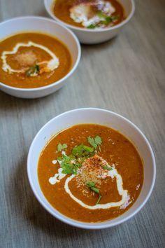 Tandoori linzen soep - groentenenfruit
