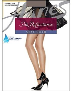 5936ec42e Hanes Silk Reflections Control Top Reinforced Toe Pantyhose