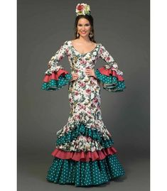 Vestido de flamenca Saeta Estampado Costume Flamenco, Spanish Fashion, Image Makers, En Stock, Fishtail, Prom, Costumes, Beauty, Dresses