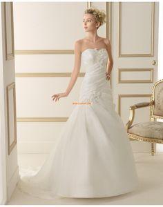 Ragyog & Csillog Klasszikus és időtálló Természetes Évjárat Menyasszonyi ruhák