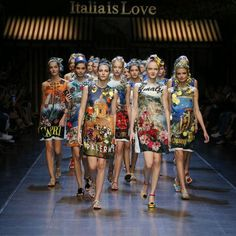 The Dolce & Gabbana Fashion Week in Milan: the opening of the Fashion Show ❤Italia is Love❤.