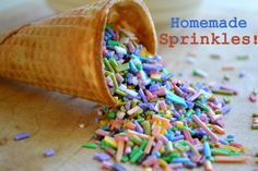 I love making homemade sprinkles! It's an easy way to customize your baked goods and they taste great!!