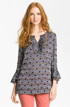Tory Burch 'Gwenna' Ruffle Tunic available at #Nordstrom