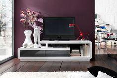 weißer schlichter tv tisch fernseher