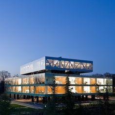 Hotel repurpose and adaptive reuse architecture.  Vakko Fashion Center & Power Media Centre by REX - Dezeen