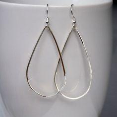 Silver Drop Earrings- Sterling Silver Teardrop Earrings - Silver Dangle Earrings - Simple Silver Earrings - Minimalistic Earrings 3057 by lisalehmanndesigns on Etsy