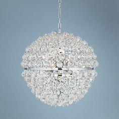"Vienna Full Spectrum Lavina 23"" Wide Clear Crystal Pendant - $699"