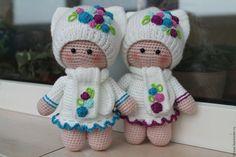 """Купить куколки сестренки """"МалышкИ Мини"""" - комбинированный, Вязание крючком, вязание на заказ, вязаная игрушка ♡"""