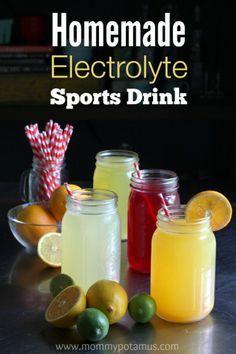 Homemade Electrolyte Sports Drink--move over gatorade!