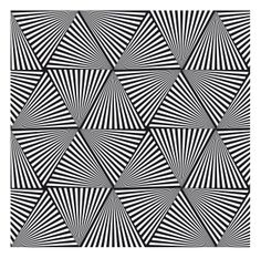 optical illusion pattern with triangles