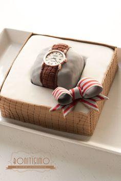 Bonitisimo: Tarta en forma de reloj para el día del padre Cake Decorating Techniques, Cake Decorating Tips, Cake For Boyfriend, Dad Cake, Shirt Cake, Fantasy Cake, Birthday Cakes For Men, Birthday Cake Decorating, Fashion Cakes