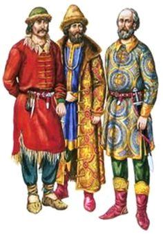 Slavic costumes Kievan Rus