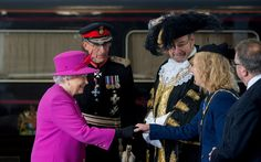 Queen Elizabeth II Photos: Queen Elizabeth II Arrives at Plymouth Train Station