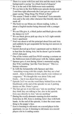 Thorough conspiracy theory list of Reasons Why Ezra is A (continued) Best Tv Shows, Best Shows Ever, Movies And Tv Shows, Do You Miss Me, Just Go, Conspiracy Theories List, Pretty Little Liars Theories, Ezra And Aria, Halloween Train