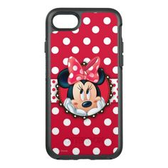 Minnie Mouse   Smiling on Polka Dots OtterBox Symmetry iPhone 7 Case