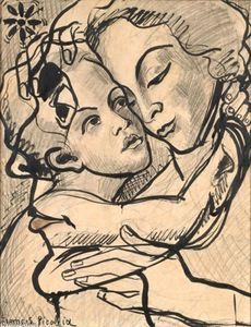 Villica-caja, Oil by Francis Picabia (1879-1953, France)