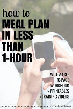 Take the Meal Plan Challenge. Learn how to meal plan step-by-step for FREE