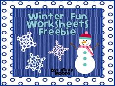 Winter Fun Worksheets - Pinned by @PediaStaff – Please Visit  ht.ly/63sNt for all our pediatric therapy pins